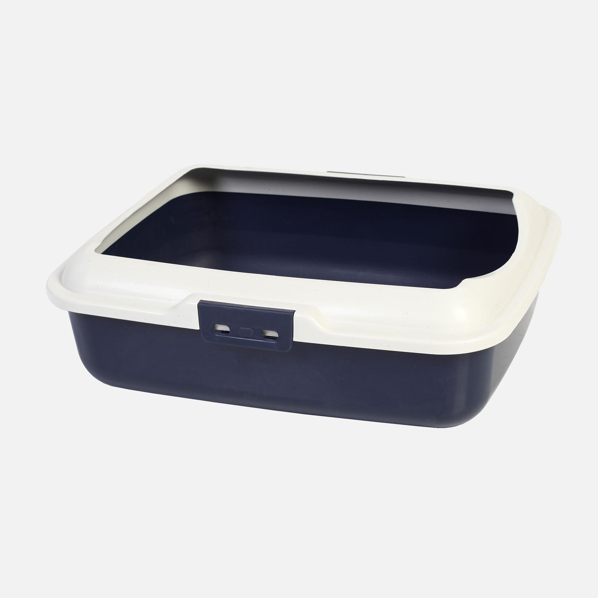 Caisses de toilette plastique bleu marine