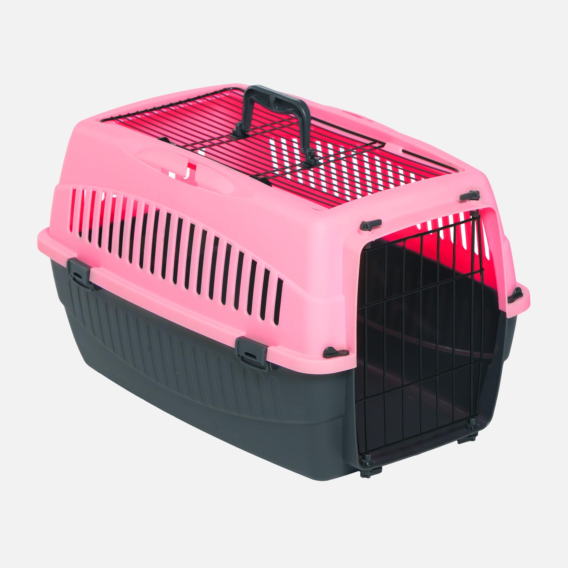 Caisses plastique de transport double ouverture rose par wouapy
