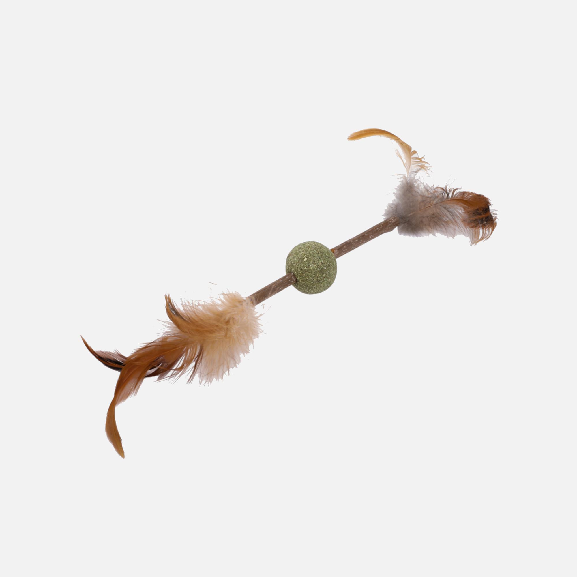 Boule_a_plumes matatabi naturel et herbe a chats