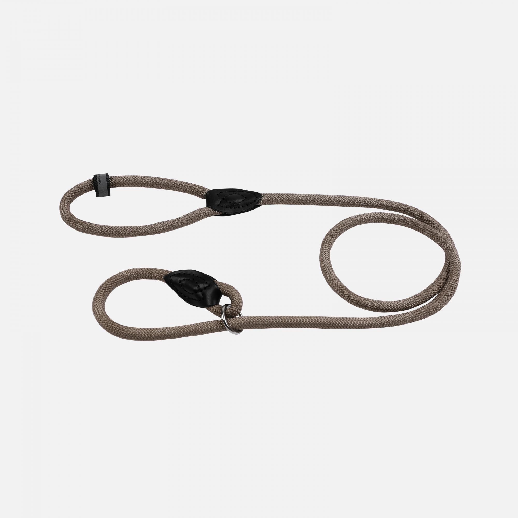 Laisse corde forte étrangleur 1,60 m Taupe par Wouapy