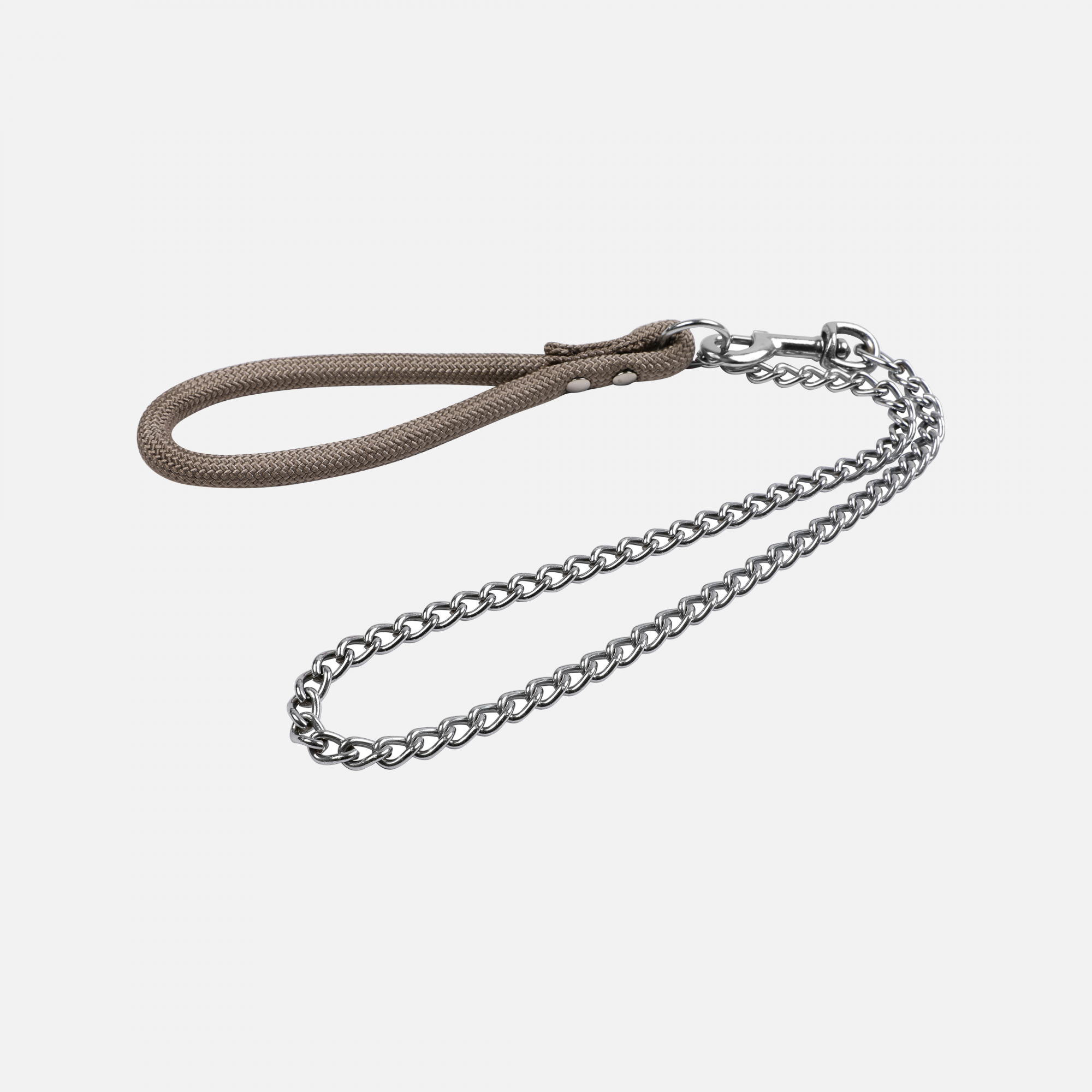 Laisse métal forte corde forte 1 m Taupe par Wouapy