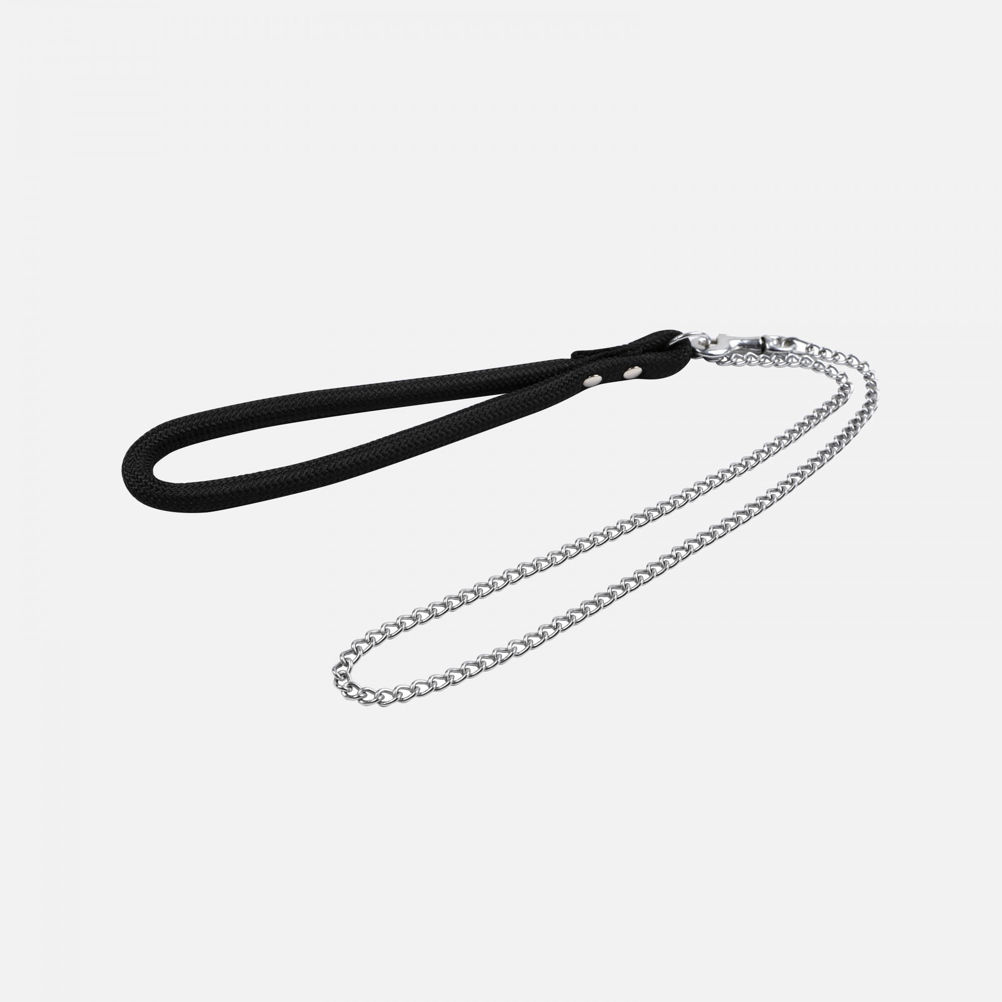 Laisse métal moyenne corde forte Noir par Wouapy