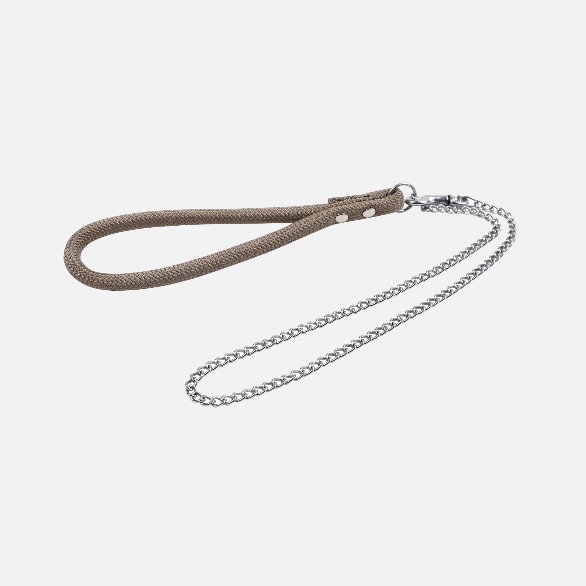 Laisse métal moyenne corde forte Taupe par Wouapy