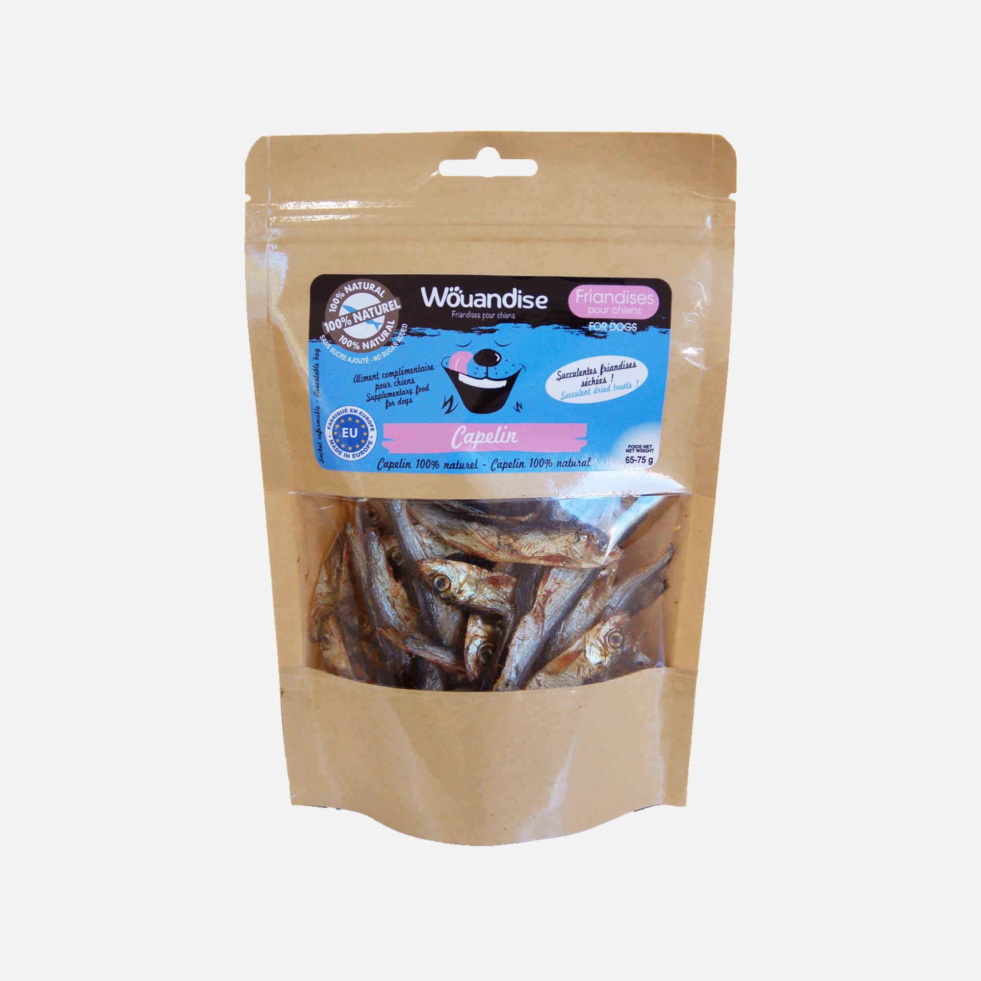Friandises naturelles capelin par Wouapy
