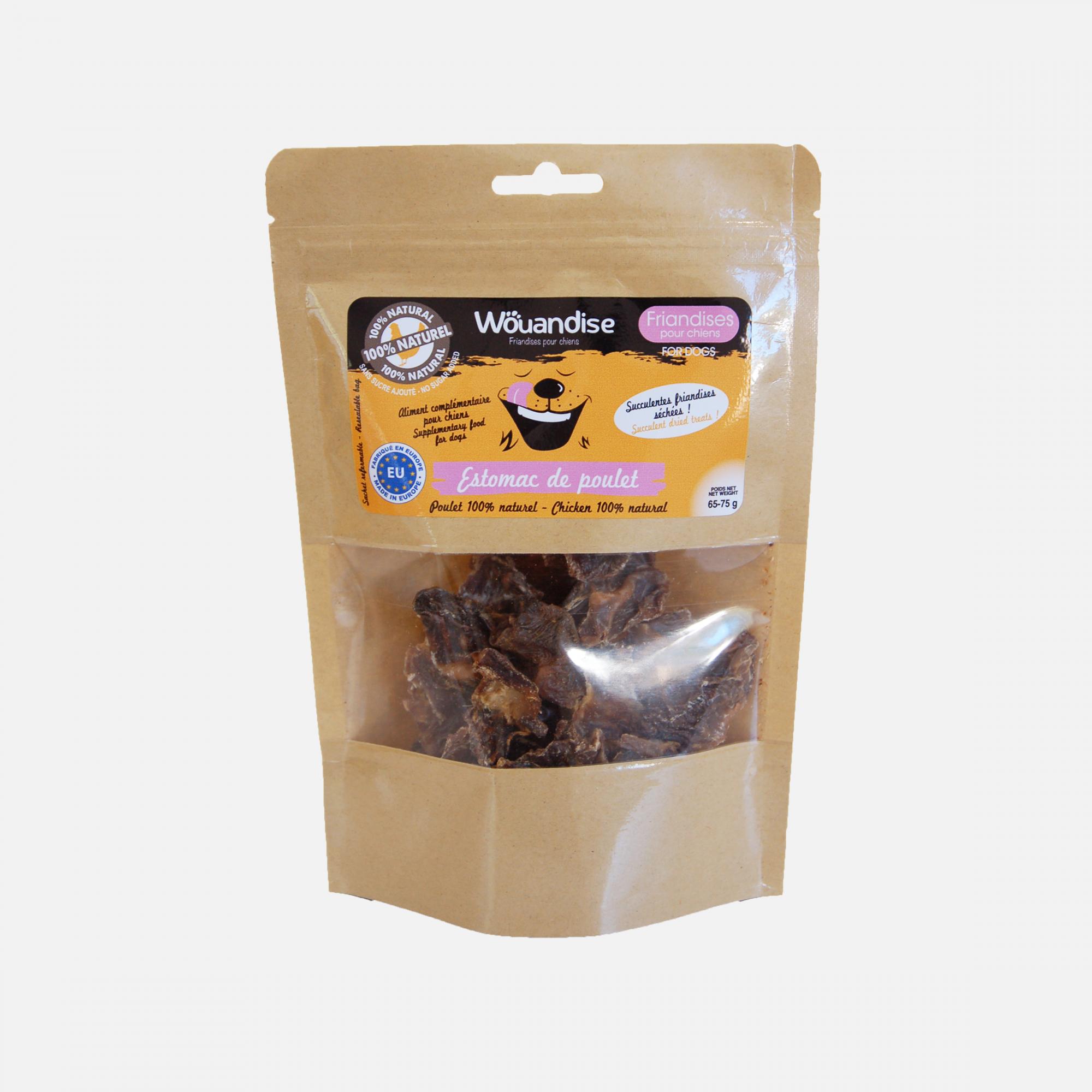 Friandises naturelles estomac de poulet par Wouapy