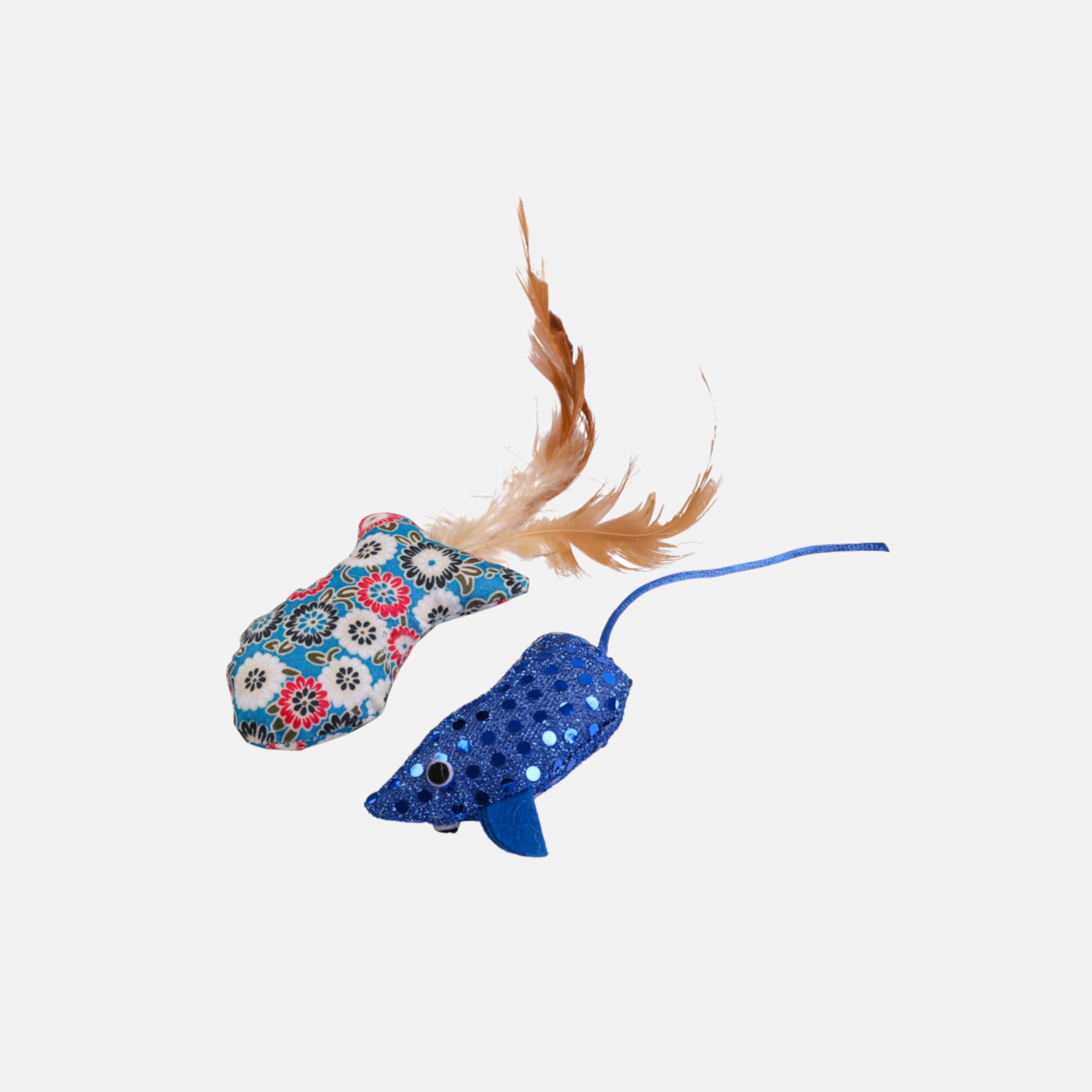 poisson et souris tissu