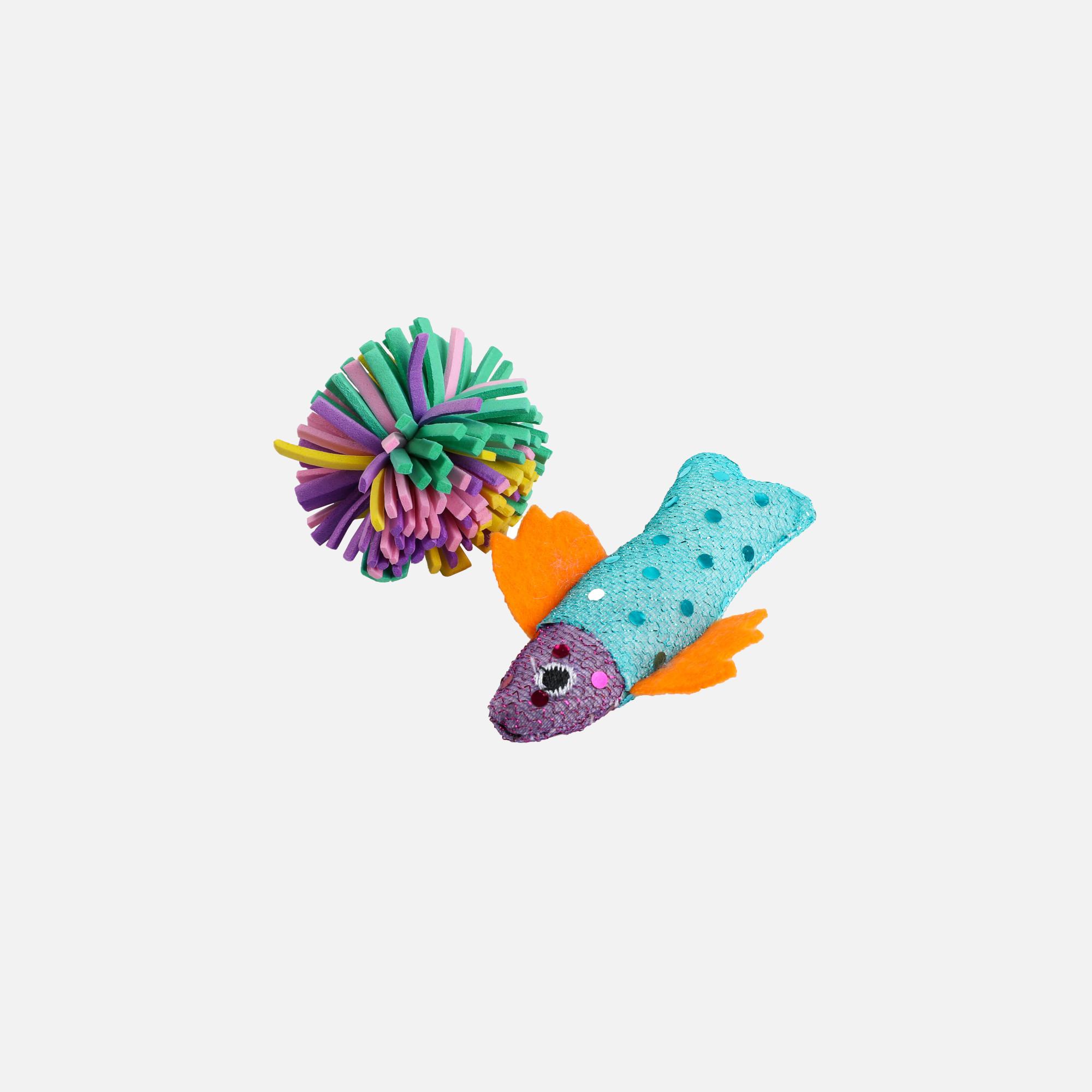poisson tissu et balle