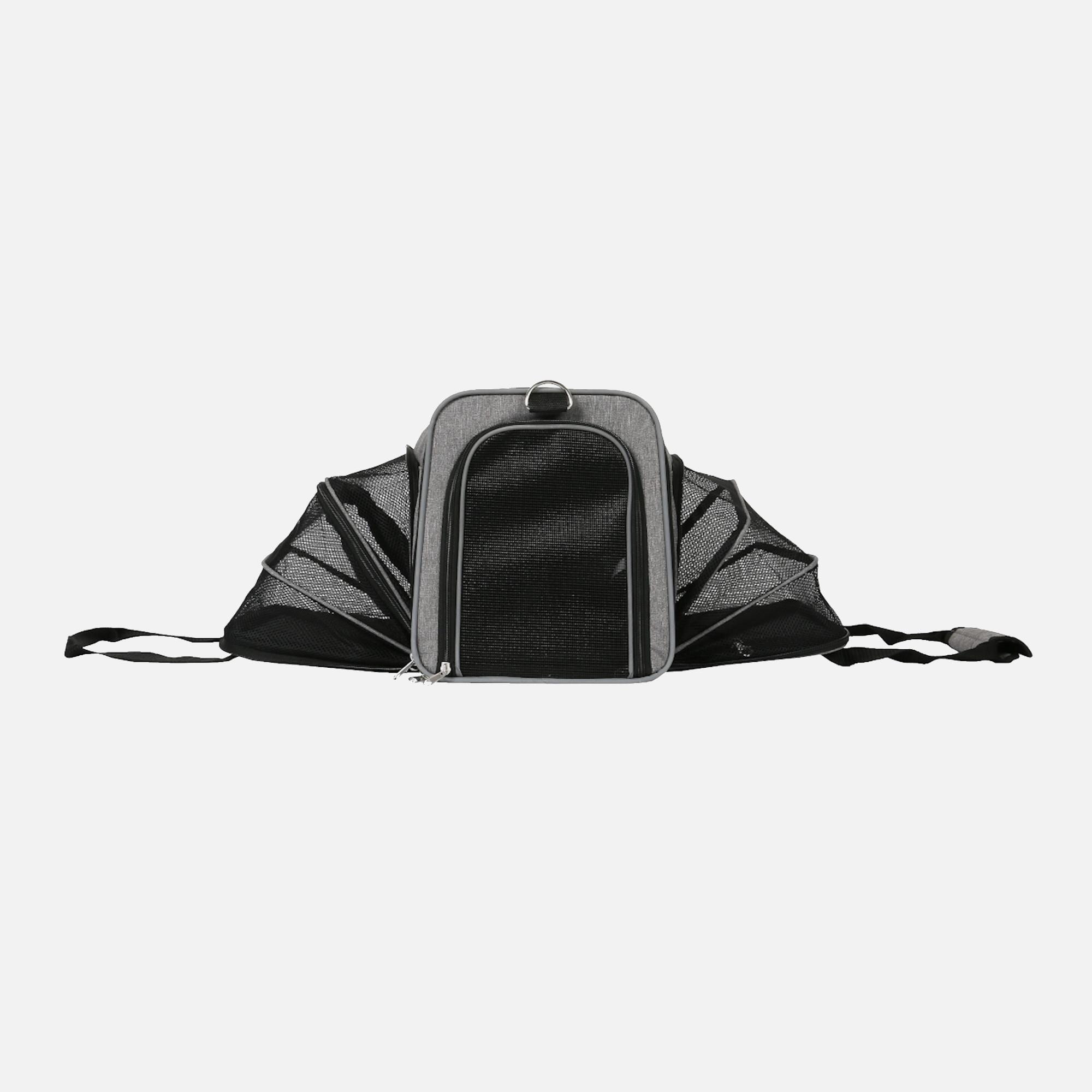 sac camping gris déplié de wouapy