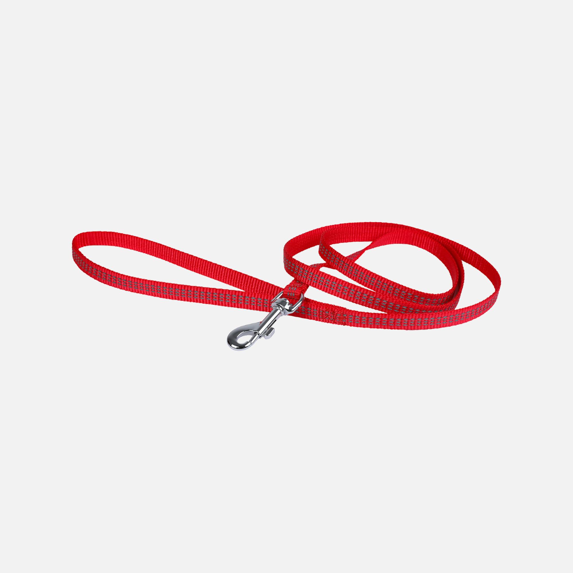 Laisse protect rouge 10mmx1,2m de wouapy
